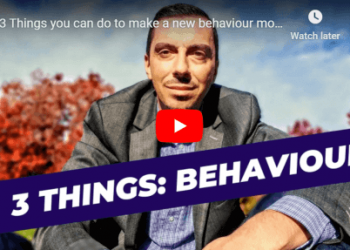 3 Things you can do to make a new behaviour more sustainable